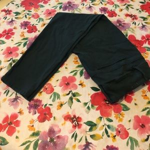Pants - Dark Green Stretchy Pants